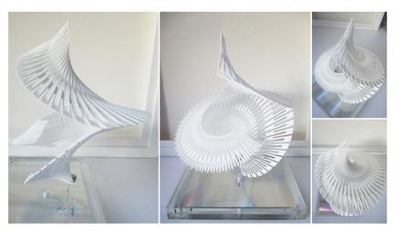 Press kit   2121-06 - Press release   Seismic Electromagnetic Induction LED - Margot Krasojević Architects - Lighting Design - 3d printed formal configurations - Photo credit: Margot Krasojević