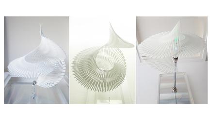 Press kit   2121-06 - Press release   Seismic Electromagnetic Induction LED - Margot Krasojević Architects - Lighting Design - 3d printed recycled polymer net - Photo credit: Margot Krasojević