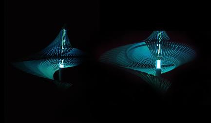 Press kit   2121-06 - Press release   Seismic Electromagnetic Induction LED - Margot Krasojević Architects - Lighting Design - 60 Candela, 3m Light dissipation - Photo credit: Margot Krasojević