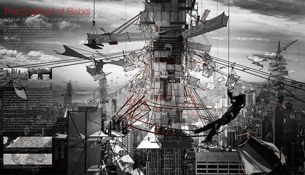 Press kit | 1127-13 - Press release | Winners 2017 eVolo Skyscraper Competition - eVolo Magazine - Competition - The Scaffold of Babel - honorable mention - Photo credit: Yutan Sun, Tongda Xu, Luojia Zhang, Dinglu Wang, Tianjun Wang
