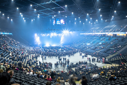 Press kit   2042-01 - Press release   The AccorHotels Arena - DVVD architecture, design and engineering agency - Commercial Architecture - Photo credit: Sergio Grazia