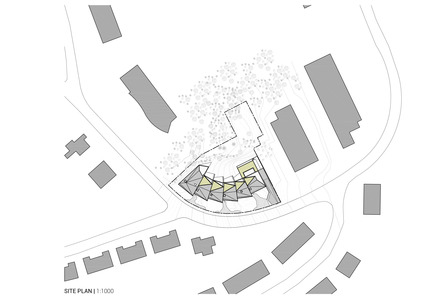 Press kit   1018-04 - Press release   Residential Building with 15 Units - Metaform architects - Residential Architecture - Situation plan - Photo credit: Metaform