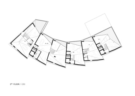 Press kit   1018-04 - Press release   Residential Building with 15 Units - Metaform architects - Residential Architecture - 2nd floor plan - Photo credit: Metaform