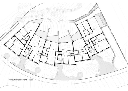 Press kit   1018-04 - Press release   Residential Building with 15 Units - Metaform architects - Residential Architecture - Ground floor plan - Photo credit: Metaform