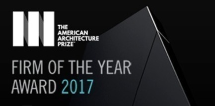 Press kit | 1968-03 - Press release | The American Architecture Prize Announced the AAP Firm of the Year Award - AAP - The American Architecture Prize - Commercial Interior Design - 2017 Firm of the Year Award 2017 Logo<br> - Photo credit: Farmani Group, AAP<br>