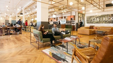 Press kit   2092-01 - Press release   designjunction + Dwell on Design announce line-up for NYCxDesign 2016 - designjunction + Dwell on Design - Event + Exhibition - Example of a co-working space from WeWork - Photo credit: designjunction + dwell on design