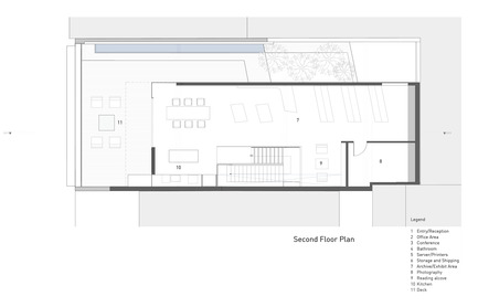Press kit   1891-02 - Press release   Hybrid Design - Terry & Terry Architecture - Commercial Architecture - second floor plan - Photo credit: Terry.Terry Architecture