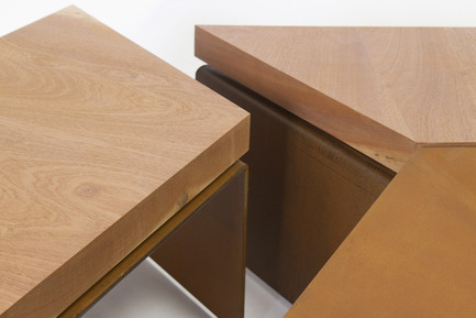 Press kit | 2608-01 - Press release | Les Choses, Publishing - Etterr Production - Product - Detail of the brazier benches N°2. - Photo credit: P. Vuilmet