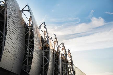Press kit | 755-04 - Press release | Alouette University Building, UQAC - BGLA | Architecture + Design urbain - Institutional Architecture -  Aluminum filters - Photo credit: Optik 360°