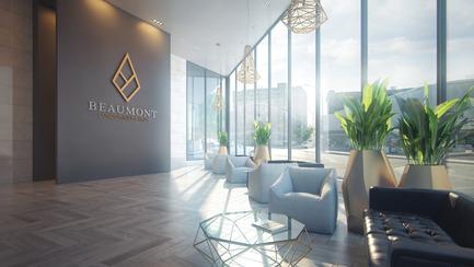 Press kit   2056-01 - Press release   Unveiling Of The Brand New Beaumont Condominiums Project - DevMcGill - Real Estate - The Lobby : A Grand Entrance - Photo credit: Sébastien Gaudard - Vizual 3D