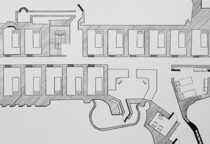 Press kit | 985-01 - Press release | Aérial - Baptiste Debombourg - Art - Tradition of Excellence XI -Famas-F1-, detail view, drawing, frame, pencil  on vinci paper 45x100cm