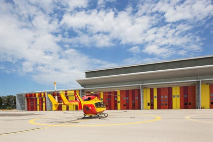 Press kit - Press release - Extension of the helicopter group of civil security - Nimes Garons - NBJ architectes