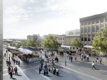 Press kit - Press release - Legacy of Montréal's 375th anniversary in Ville-Marie: An even more inviting Place Jacques-Cartier - Arrondissement de Ville-Marie