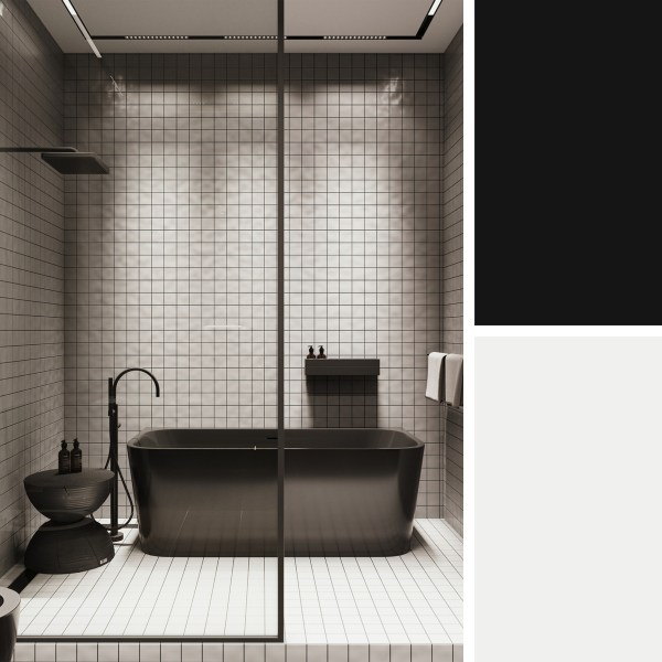 Black Apartment in St Petersburg 75m – Bathroom 2
