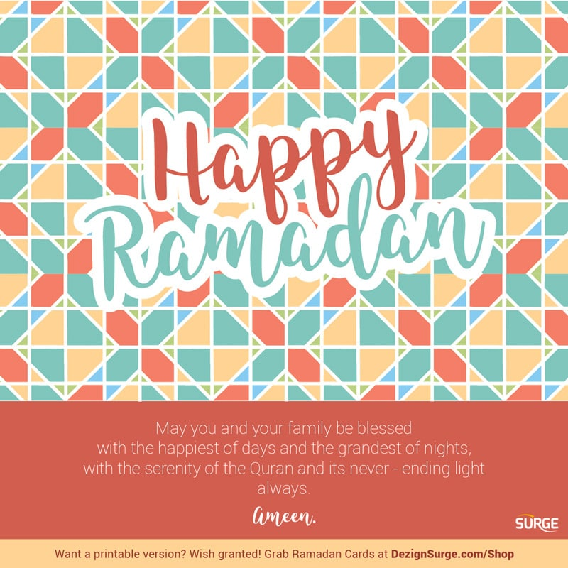 photograph relating to Ramadan Cards Printable named Ramadan eCards Dezign Surge