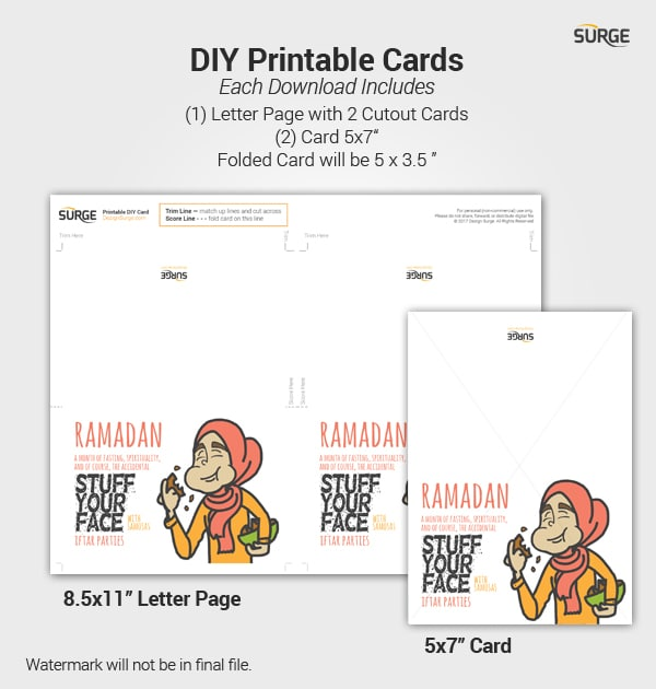 photo about Ramadan Cards Printable identify Ramadan Samosa Woman - Fast Down load Printable Card