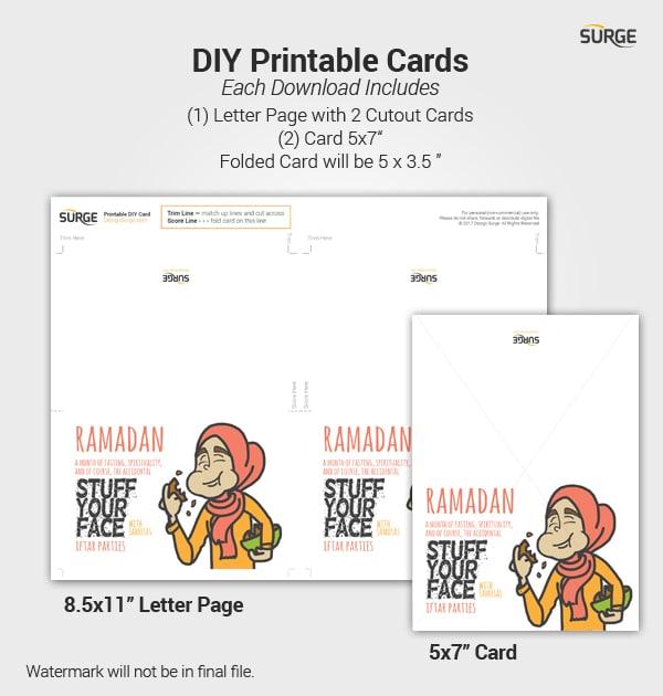 photo about Ramadan Cards Printable identify Ramadan Samosa Woman - Fast Down load Printable Card