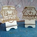 Laser Cut Soccer Phone Stand DWG File Free Download - 3axis.co
