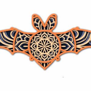 Laser Cut Bat Mandala - 4 Layers