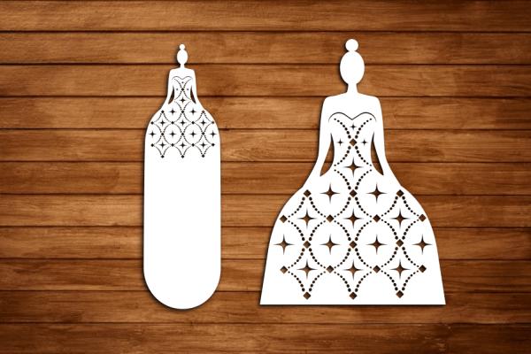 Laser Cut Wedding Cut File 2 Free SVG Vector