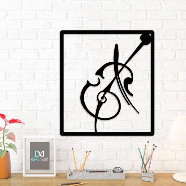 Metal Wall Art Music, Violin Wall Sign, Metal Wall Decor
