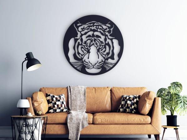 Tiger Metal Wall Art, Zooo Metal Wall Decor, Exotic Home Decor
