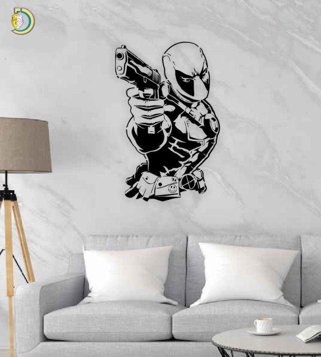 Deadpool Wall Decor Wall Art CDR DXF Free Vector