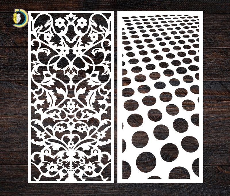 Decorative Screen Panel 21 CDR DXF Laser Cut Free Vector