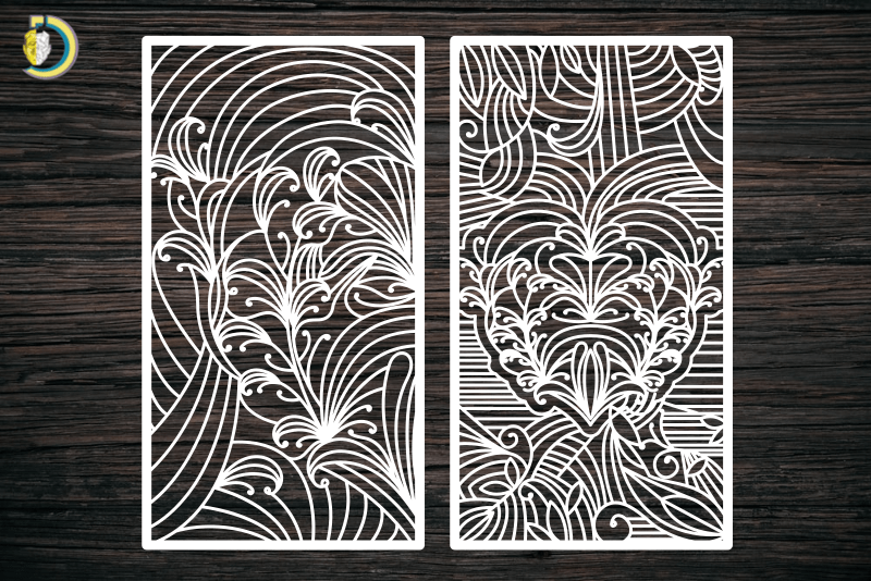 Decorative Screen Panel 61 CDR DXF Laser Cut Free Vector