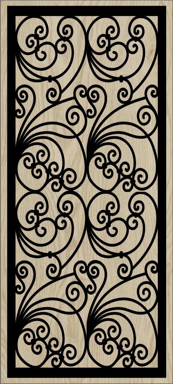 Decorative Slotted Panel 104 Pattern PDF File