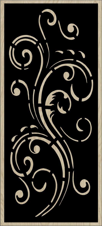 Decorative Slotted Panel 122 Pattern PDF File