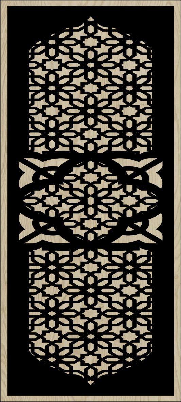 Decorative Slotted Panel 134 Pattern PDF File