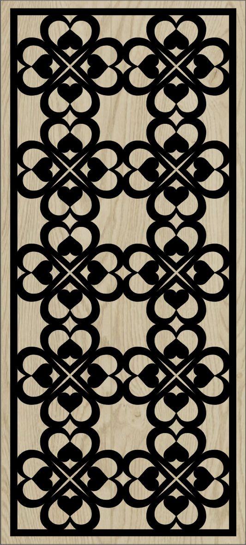 Decorative Slotted Panel 161 Pattern PDF File