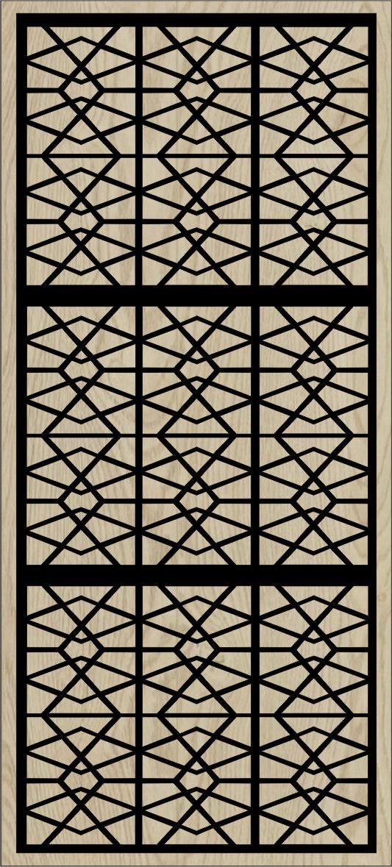 Decorative Slotted Panel 170 Pattern PDF File
