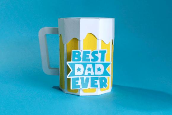 Father's Day Mug Gift Box SVG Cut Template