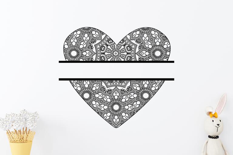 Free Zentangle Heart SVG Vector Cut File