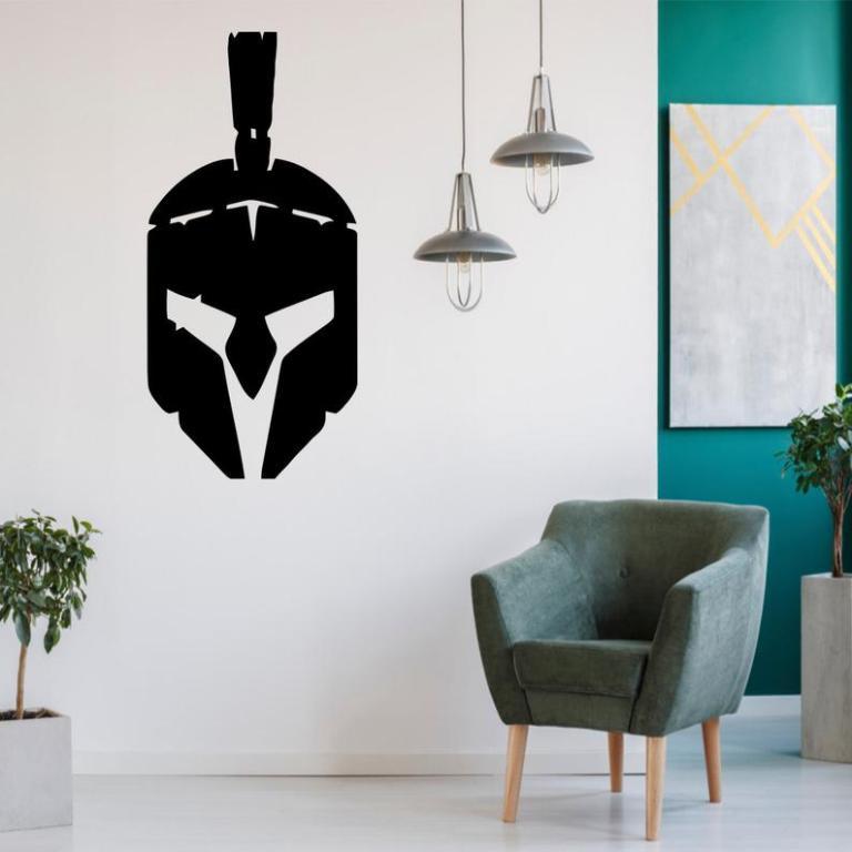 Helmet Metal Wall Art, Metal Wall Sign, Metal Wall Hangings