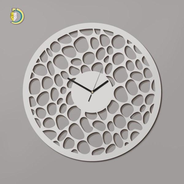 Laser Cut Luna Clock Wooden Wall Clock Vector