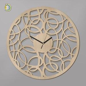 Laser Cut Oleo Clock Wooden Wall Clock Vector