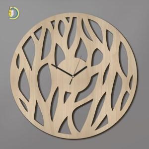 Laser Cut Organika Clock Wooden Wall Clock Vector