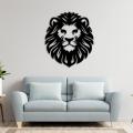 Lion Metal Wall Decor, Geometric Metal Lion Head, Animal Art