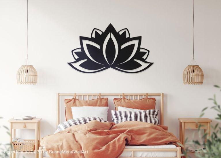 Lotus Flower Metal Art, Metal Lotus Wall Art