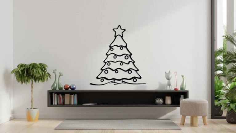 Metal Christmas Tree Wall Art, Christmas Gift