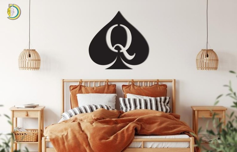 Queen Of Spades Wall Decor From Wood Wooden Wall Art
