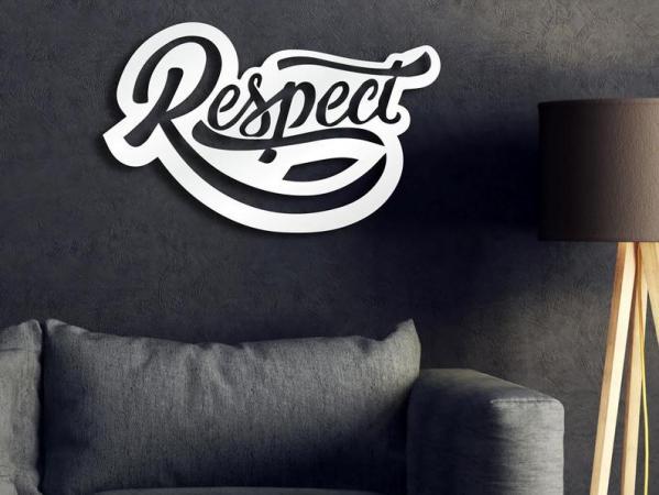 Respect Wooden Sign, Bar Wall Decor, Wood Wall Art
