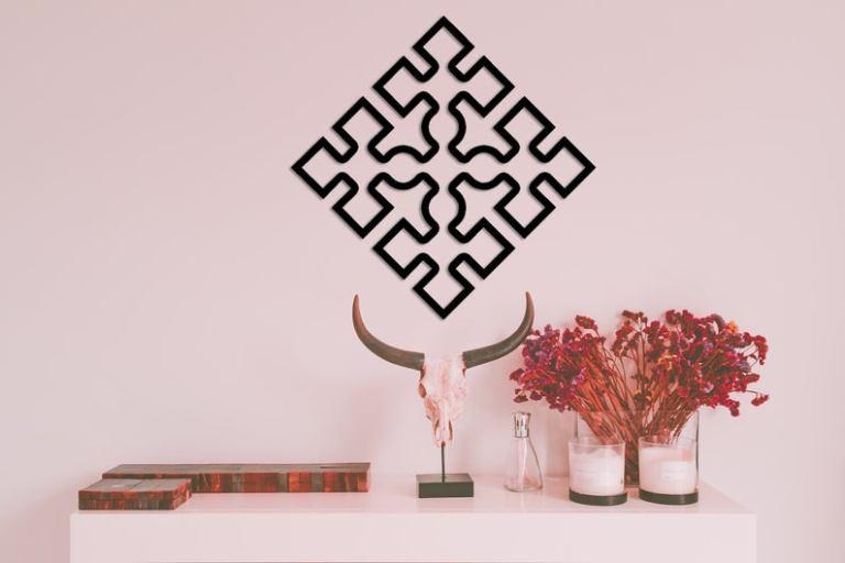 Viking Knot Metal Wall Art, Tree of Life Metal Wall Art