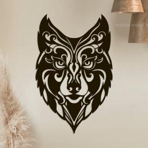 Wolf Head Wall Art Wolf Wall Decor Wooden Wall Art Home Decor