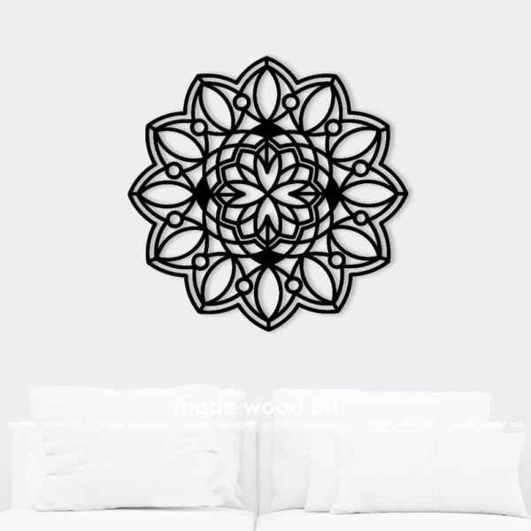 Wooden Mandala Wall Art Wood Décor Living Room Wall Art