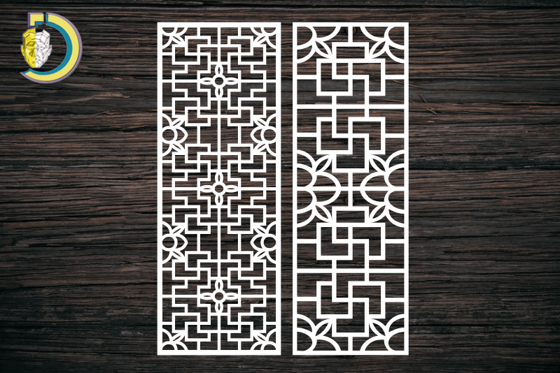 Decorative Screen Panel 109 CDR DXF Laser Cut Free Vector