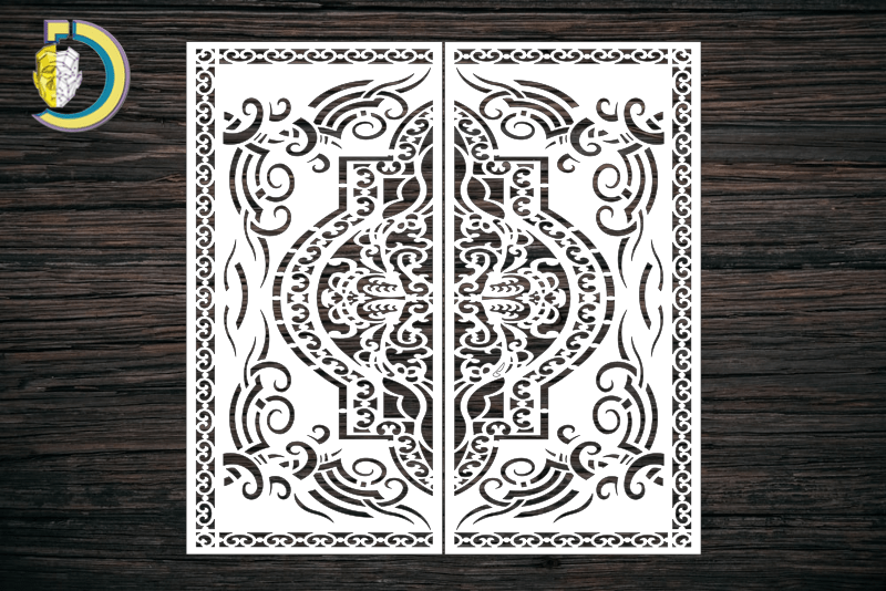 Decorative Screen Panel 115 CDR DXF Laser Cut Free Vector